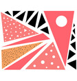 pink abstract geometric background pattern shape vector image vector image