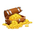 Pirates trunk chest full of vector image vector image