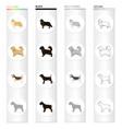 pointer dog collie scottish shepherd riesen vector image