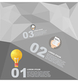 polygon infographic element with flat color vector image vector image