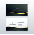 premium business card design template vector image vector image