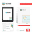 presentation chart business logo tab app diary vector image vector image