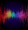 rainbow colored equalizer effect vector image