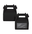 realistic paper cake package set black box mock vector image vector image