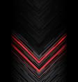 red light black line arrow polygon on grey vector image vector image