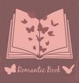 romantic book vintage poster design vector image