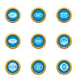 sale label icons set flat style vector image
