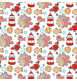 Seamless pattern with sea characters and plants