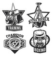 set box emblems labels badges logos vector image vector image