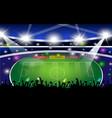 set of realistic football stadium vector image