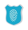 shiled protection fingerprint secure system vector image