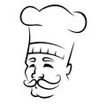 Sketch of a chef with a moustache vector image