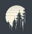 spruce forest on moon background vector image vector image