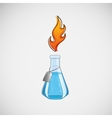 Stock laboratory flask on a light background vector image