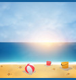 summer background on blue sky beach with sunny vector image vector image