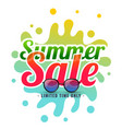 summer splash sale background with sunglasses vector image vector image