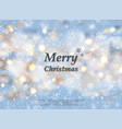 sunny snow flakes on christmas festival background vector image vector image
