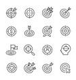 targets line icons modern monochrome vector image vector image