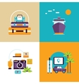 Travel and tourism banner set Summer holiday vector image