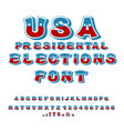 usa presidental election font political debate in vector image vector image