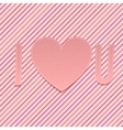 Valentines Day paper Abbreviation I love U vector image