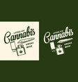 vintage monochrome marijuana logo vector image