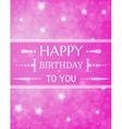 violet birthday card vector image vector image