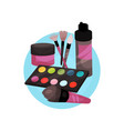 visagiste profession icon makeup tools cartoon vector image vector image