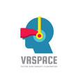 vr space - concept logo template vector image