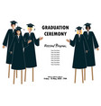 young students guys and girls banner graduation vector image vector image