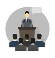 conference design concept set vector image