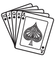 A hand of cards vector image vector image