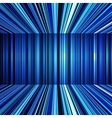 Abstract blue warped stripes background vector image vector image