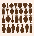 ancient bowls icons collection vase and vector image vector image