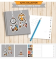 Aztec printable set vector image