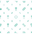 band icons pattern seamless white background vector image vector image