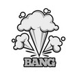 bang effect with clouds dust monochrome vector image vector image