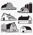 barn silhouettes vector image
