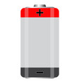 battery icon on white background battery sign vector image vector image