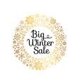 big winter sale inscription gold ornamental frame vector image vector image