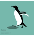 black and white penguin vector image vector image