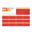 Business calendar 2016 for design website infog vector image