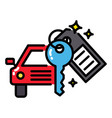 car rental or sharing economy concept icon vector image