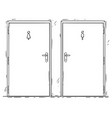cartoon public toilet or restroom door vector image