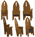 cathedra church chairs vector image vector image