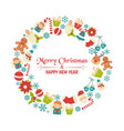 christmas greeting card christmas greeting card vector image vector image