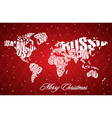 Christmas World Map in Typography vector image vector image