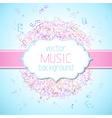 Colourful music background vector image vector image
