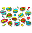 comic colored speech bubbles with halftone shadow vector image