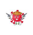 cool cowboy coronavirus amoeba holding guns vector image vector image
